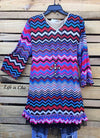 SO PRETTY TO ME MULTI-COLOR CHEVRON PATTERN TUNIC - SALE [product vendor] - Life is Chic Boutique