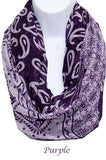MADE YOU LOOK PRETTY GAUZE SCARF IN PURPLE