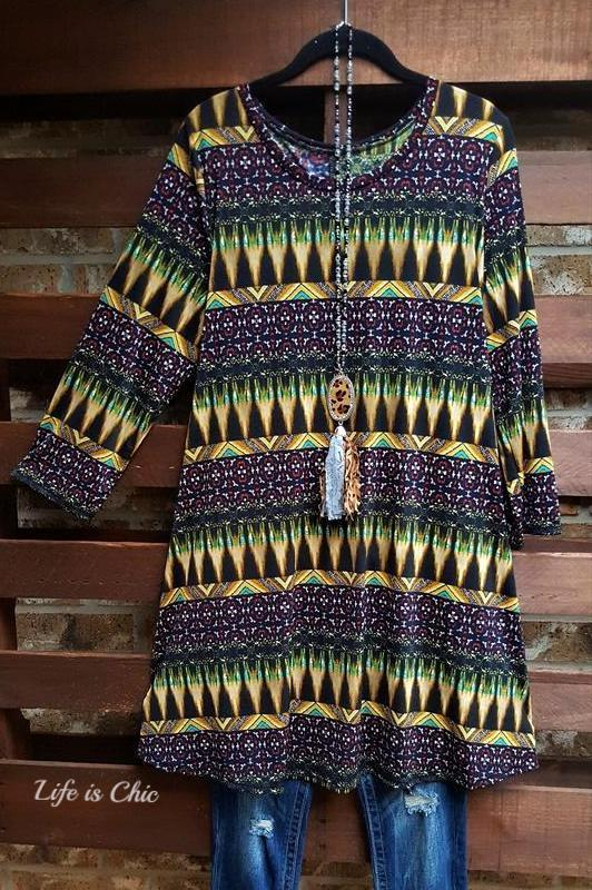 A GOOD REASON MULTI-COLOR TUNIC - sale [product vendor] - Life is Chic Boutique