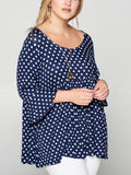 ALWAYS ON MY HEART POLKA DOT BABYDOLL IN NAVY & WHITE