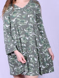 SEE YOU MOVE CAMO DRESS GREEN SAGE