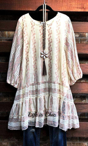 ETERNAL LOVE DRESS IN LACE BEIGE