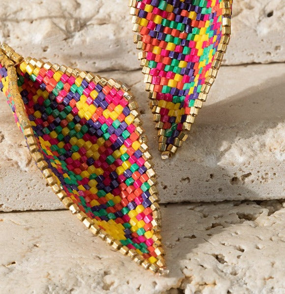 CONFETTI FEAST BEADED MULTI-COLOR EARRINGS