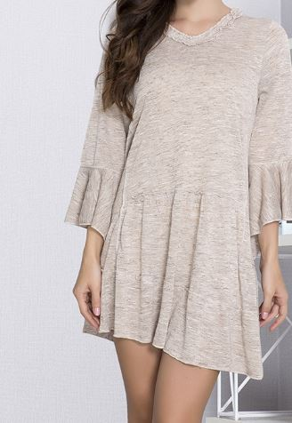 MODERN MUSE T-TUNIC IN TAUPE