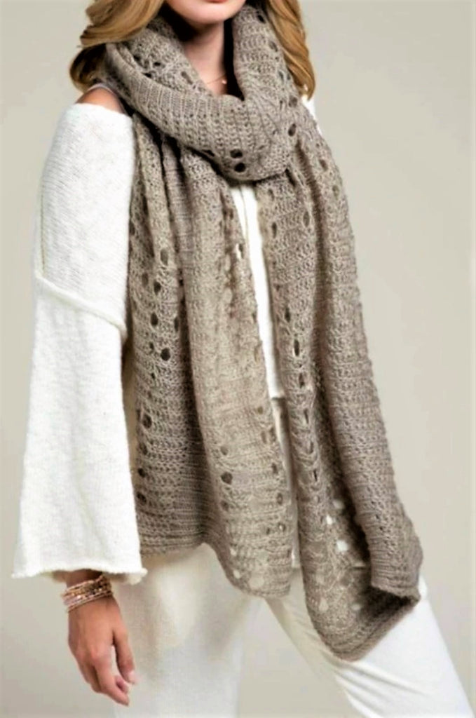 Following Your Dreams taupe Scarf