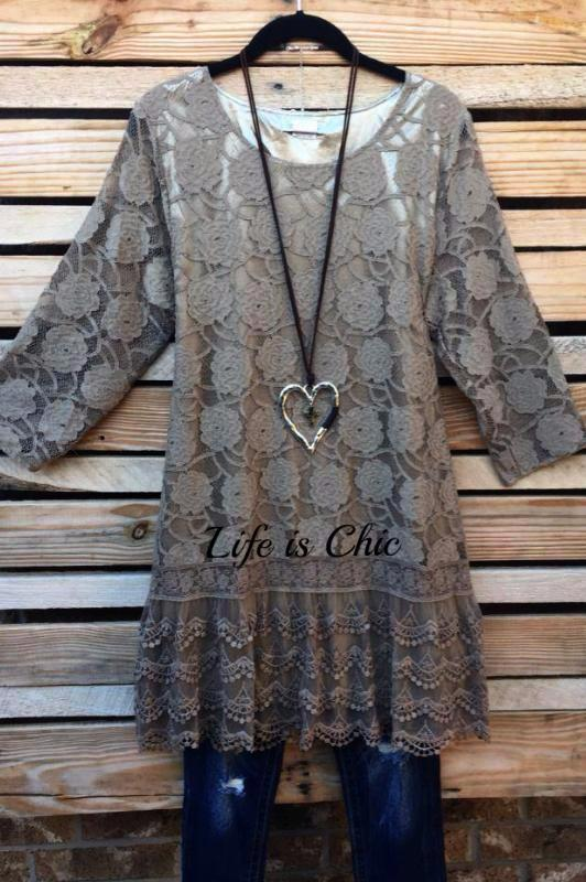 BEAUTY BOUND LACE DRESS IN MOCHA [product vendor] - Life is Chic Boutique