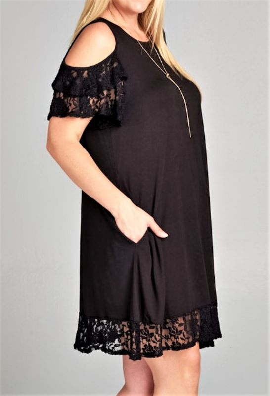 PROMISE IN MY HEART OFF SHOULDER DRESS IN BLACK------------sale