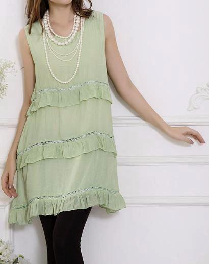 BEAUTIFUL KIND OF DAY SLEEVELESS RUFFLED STYLISH DRESS IN LIME GREEN [product vendor] - Life is Chic Boutique