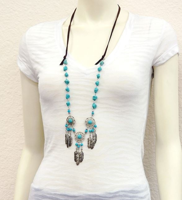 DREAMCATCHER PEACE AND BLISSFUL ENERGY NECKLACE SET