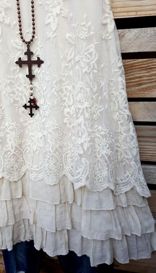 ALL THIS BEAUTY LACE EMBROIDERED SLEEVELESS TUNIC IN BEIGE [product vendor] - Life is Chic Boutique