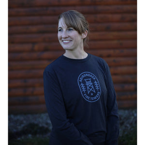 Adirondack Fire Towers | Long Sleeve (Heather Black)