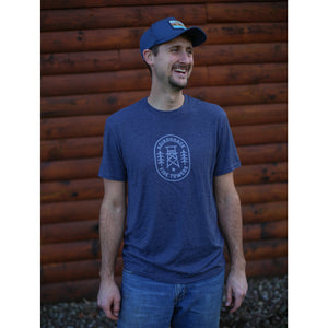 Adirondack Fire Towers | Short Sleeve (Heather Navy)