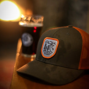 Backwoods Snapback |  Military Green/Orange