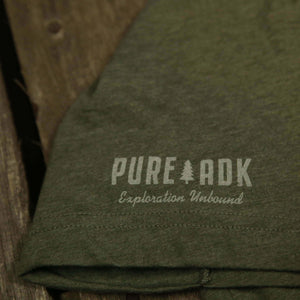 Adirondack High Peaks T-Shirt (Military Green) - Pure Adirondacks