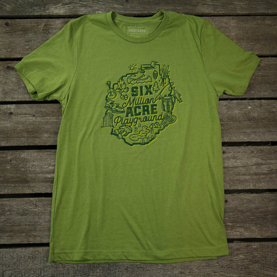 6 Million Acre Playground T-Shirt - Pure Adirondacks