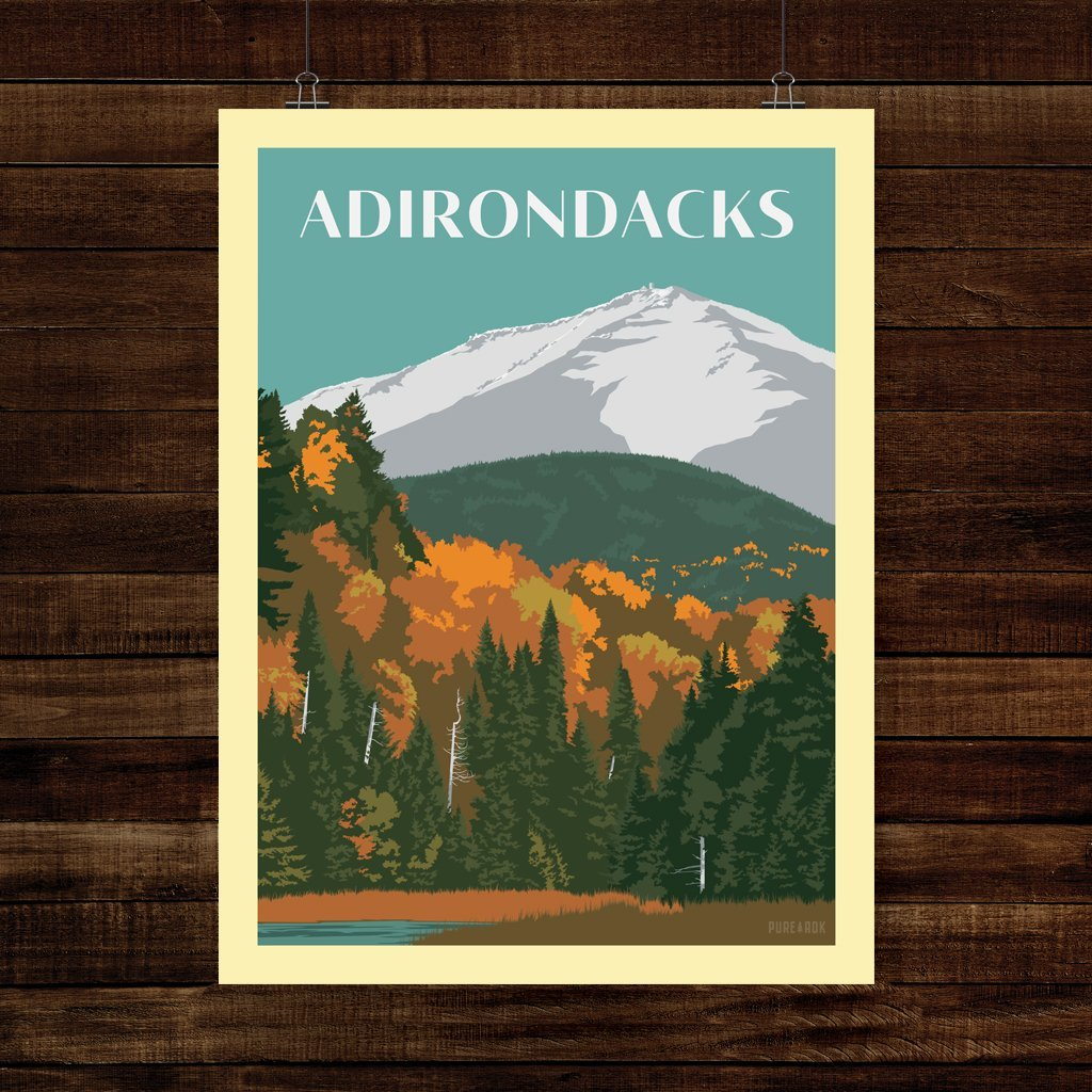 Vintage Poster | Whiteface Autumn - Pure Adirondacks