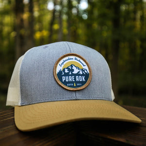 PureADK Hat | Ascent Edition - Heather Grey/Biscuit - Pure Adirondacks