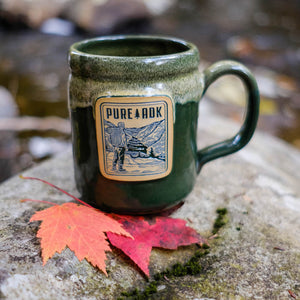 Viewpoint Mug | Hunter Green w/ Dijon-White - Pure Adirondacks