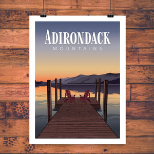 Vintage Poster | Adirondack Mountains - Pure Adirondacks