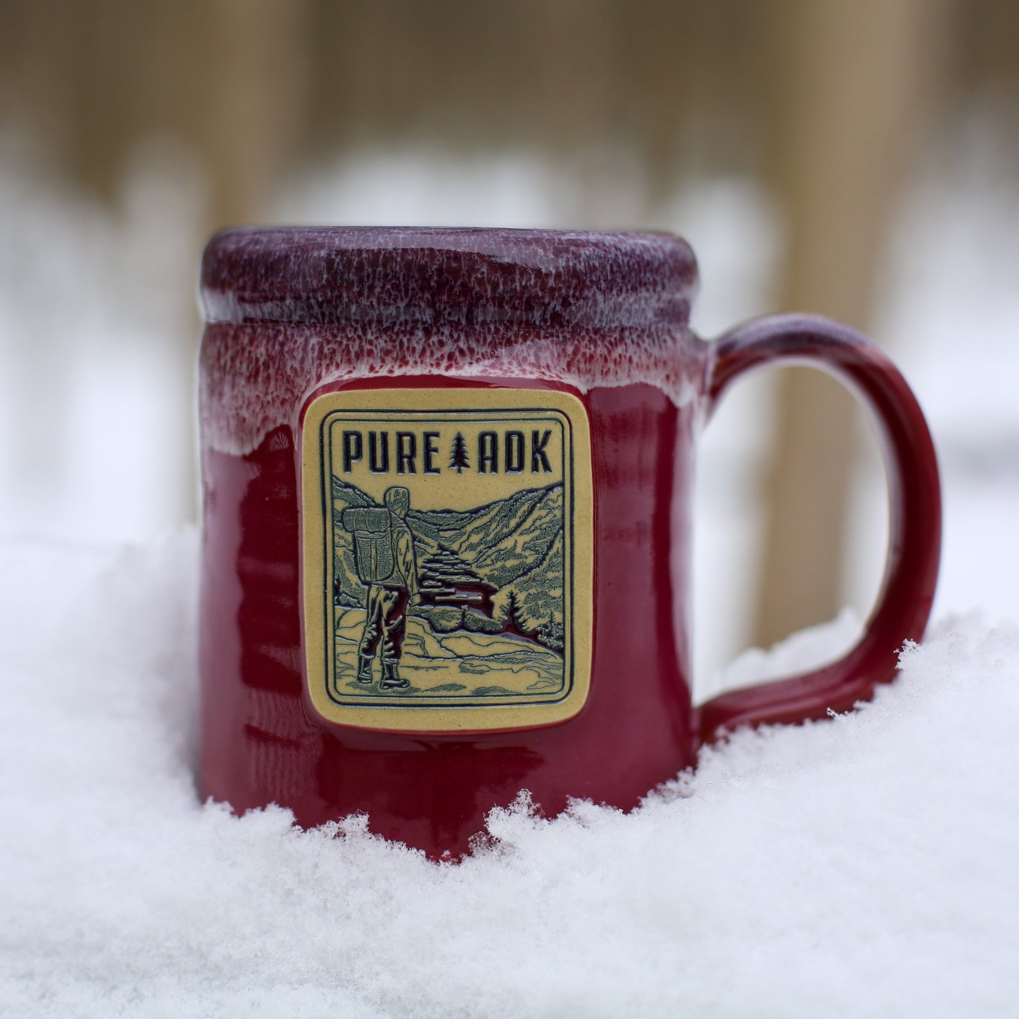 Viewpoint Mug | Cranberry w/ Blue-White