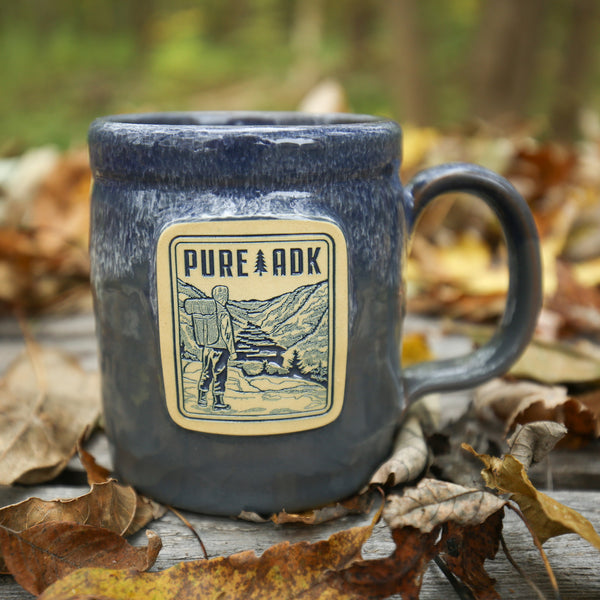 Viewpoint Mug | Grey w/ Blue-White - Pure Adirondacks