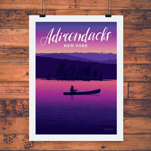 Vintage Poster | Sunset Paddle
