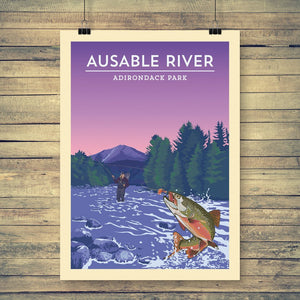 Vintage Poster | Ausable River - Pure Adirondacks