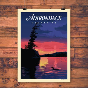 Vintage Print | Common Loon - Pure Adirondacks