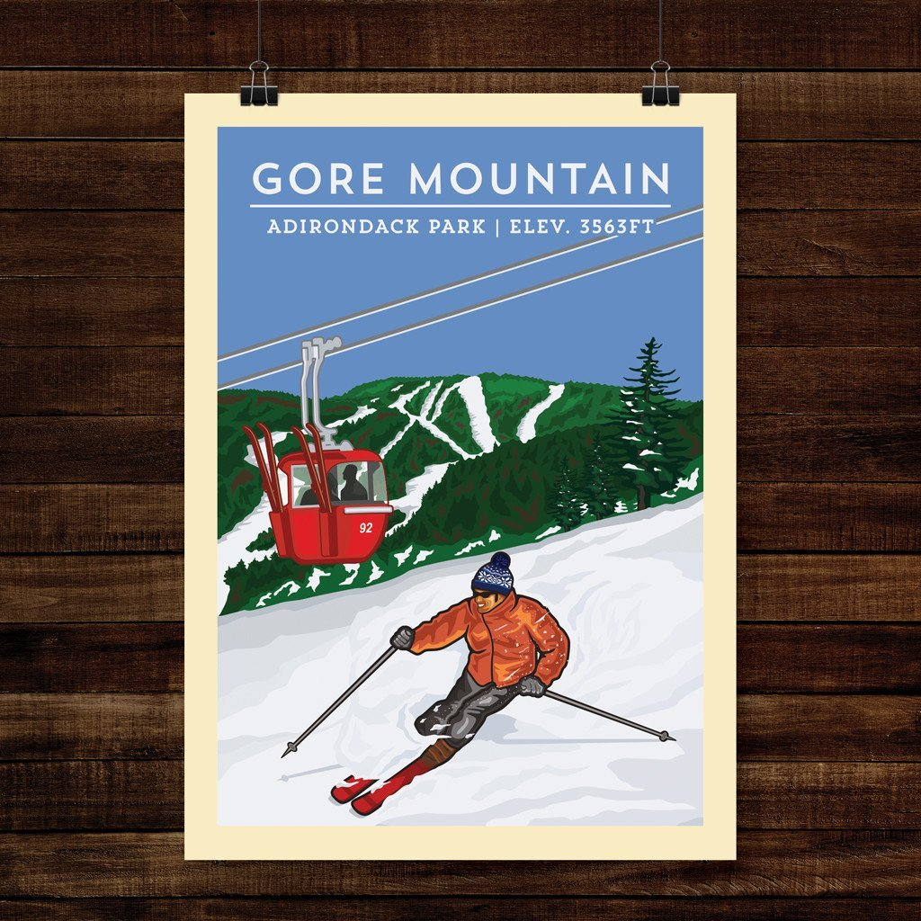 Vintage Poster | Gore Mountain - Pure Adirondacks