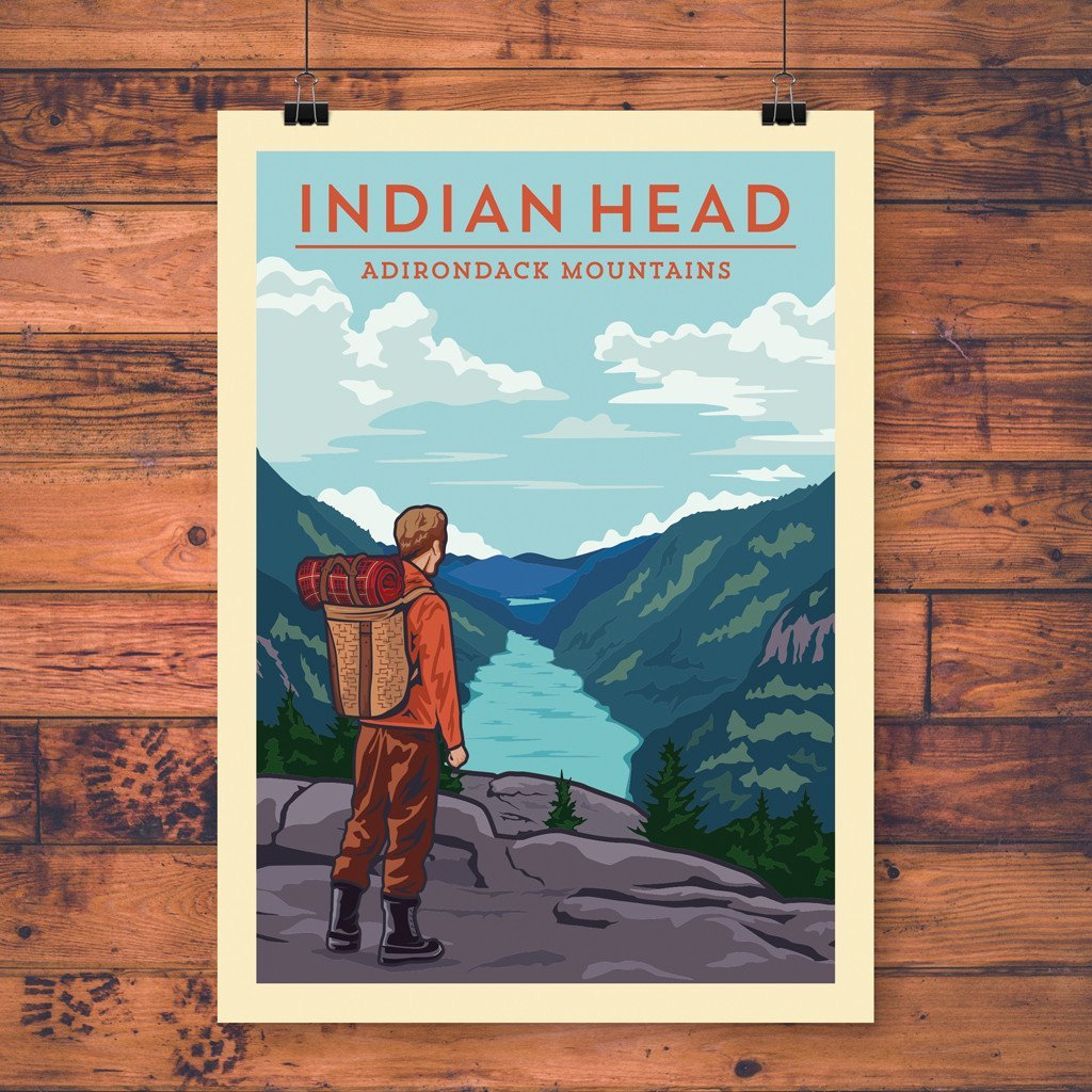 Vintage Poster | Indian Head - Pure Adirondacks