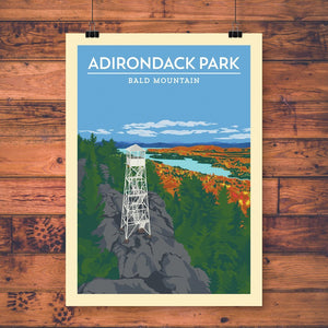 Vintage Poster | Bald Mountain - Pure Adirondacks