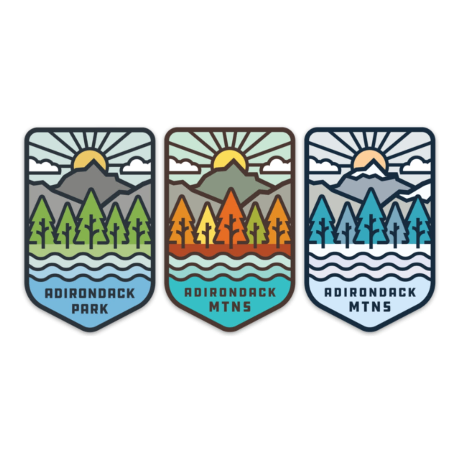 Seasonal Sticker Bundle - Pure Adirondacks