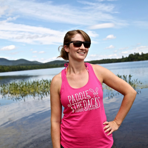 'Paddle the Dacks' Tank Top (Women's) - Pure Adirondacks