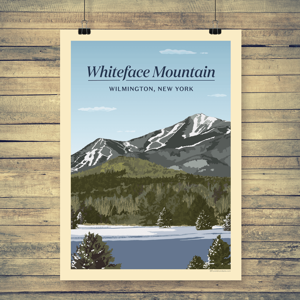 Vintage Poster | Whiteface Mountain - Pure Adirondacks
