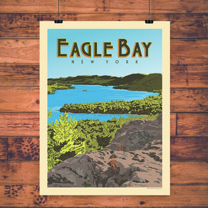 Vintage Poster | Eagle Bay, NY - Pure Adirondacks