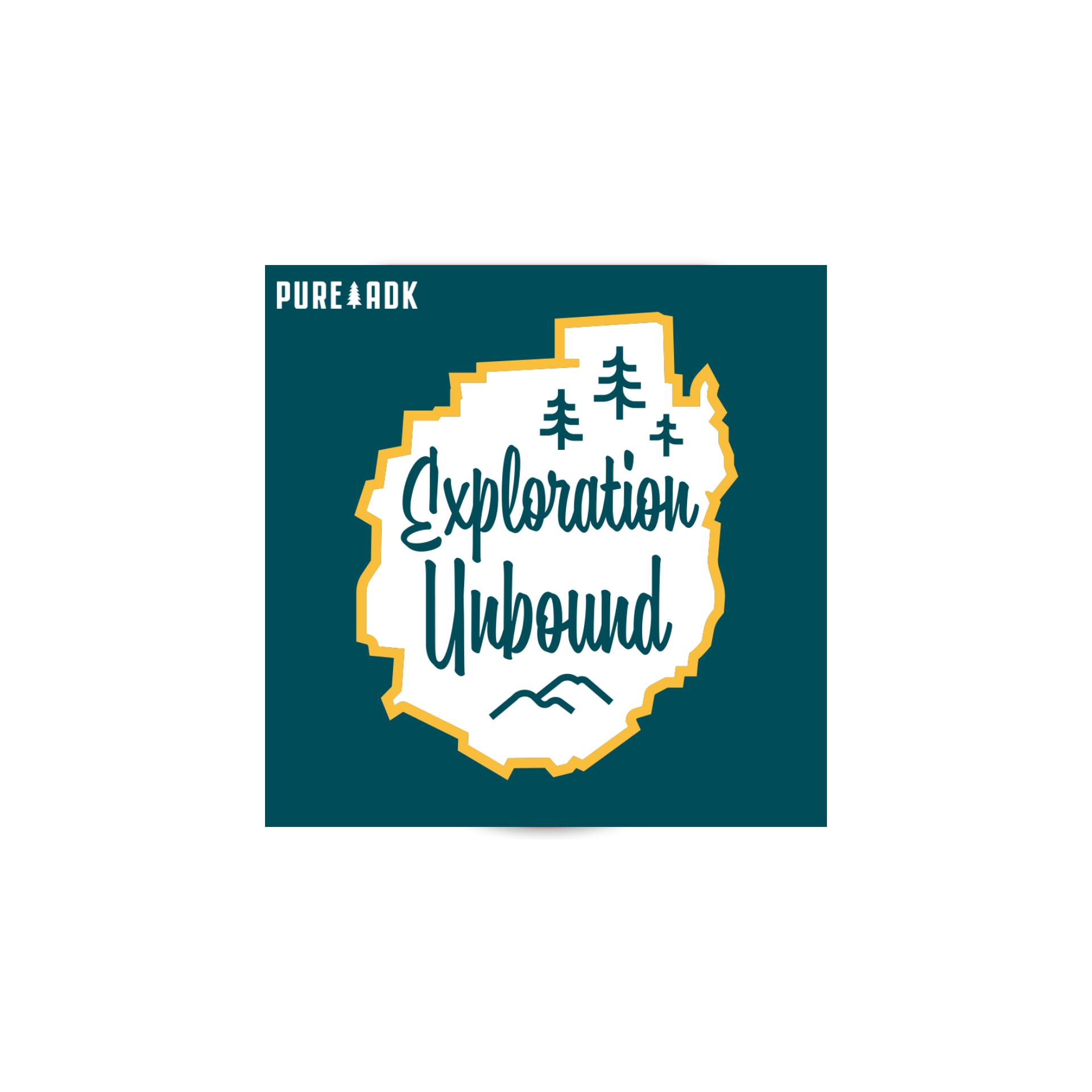 Exploration Unbound Sticker - Pure Adirondacks