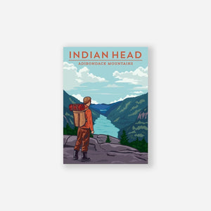 Indian Head Sticker - Pure Adirondacks