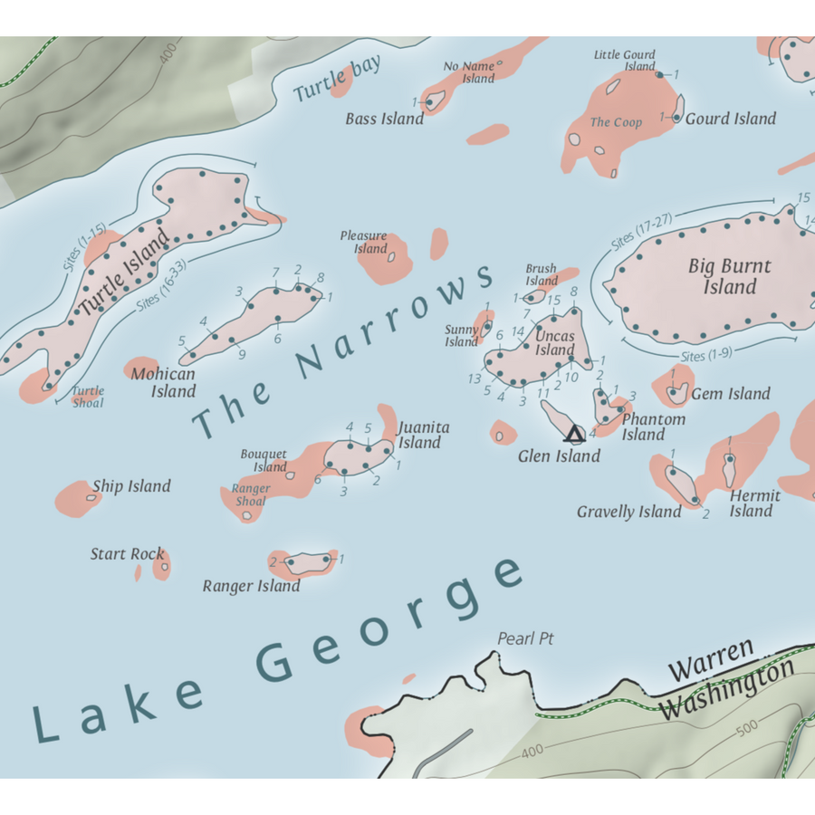 Lake George Boating & Trails Map - Pure Adirondacks