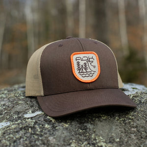 Backwoods Snapback |  Brown/Tan - Pure Adirondacks