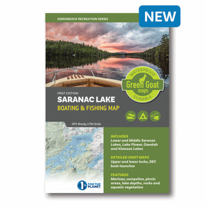 Saranac Lake Boating & Fishing Map - Pure Adirondacks
