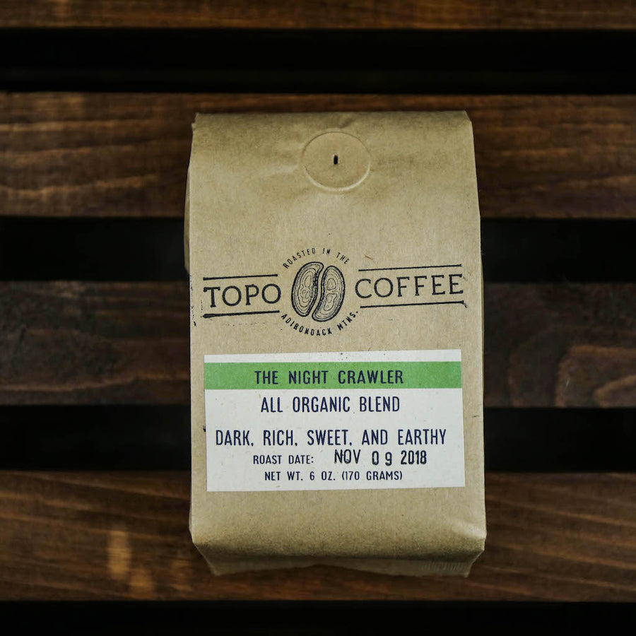 Topo Coffee - The Night Crawler (6oz) - Pure Adirondacks