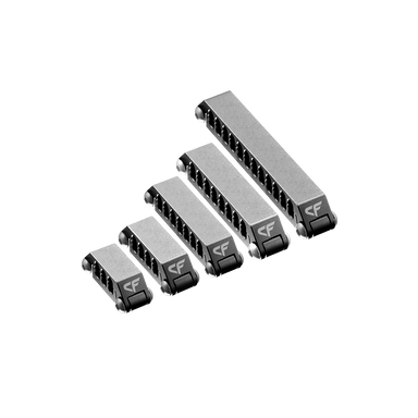 Aluminum Cable Comb Variety Pack - Gunmetal