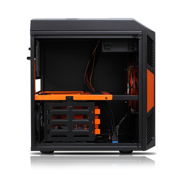 Rexgear Micro ATX Case - Limited Edition, Sunkist Orange-OEM Package