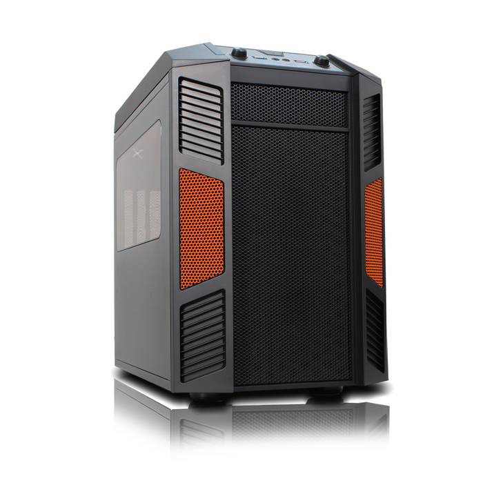 Rexgear 1 Micro ATX Case - Limited Edition, Sunkist Orange