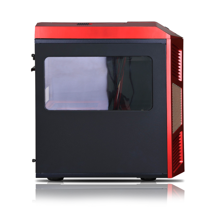 Rexgear 1 Micro ATX Case - Limited Edition, Iron Man Red