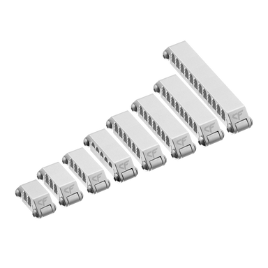 Aluminum Cable Comb Variety Pack - Silver