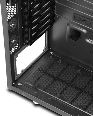 PC Cases - CoolForce 2 Tempered Glass Mid Tower Case