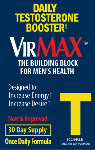VirMAX T Testosterone Booster, 30 Count