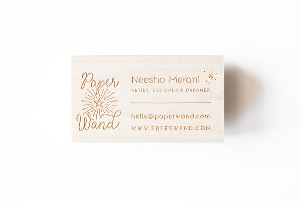 Guest post paperwands stamped business cards felicette i love the idea of encouraging someone to dream and to savor the little joys felicette delivered the perfect stamp for my biz card project reheart Choice Image