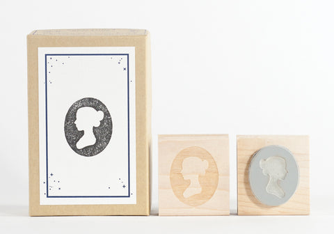 Lady Silhouette Stamp